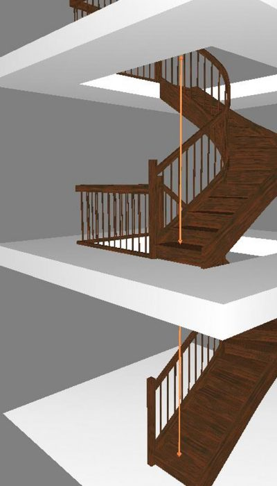 Designing the stairs